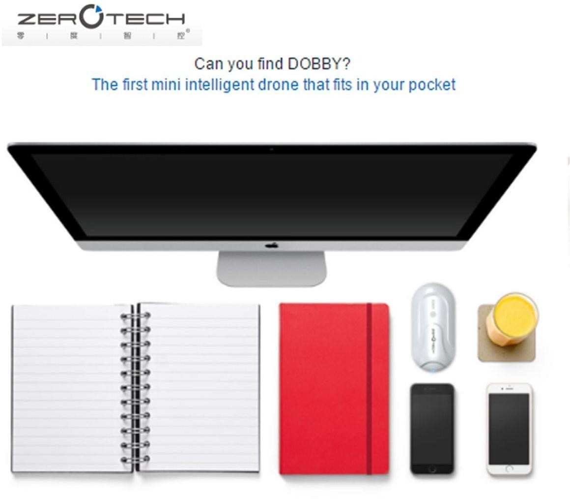 ZeroTech DOBBY Mini Pocket Drone with 4K Video GPS Live 480p Video Monitoring