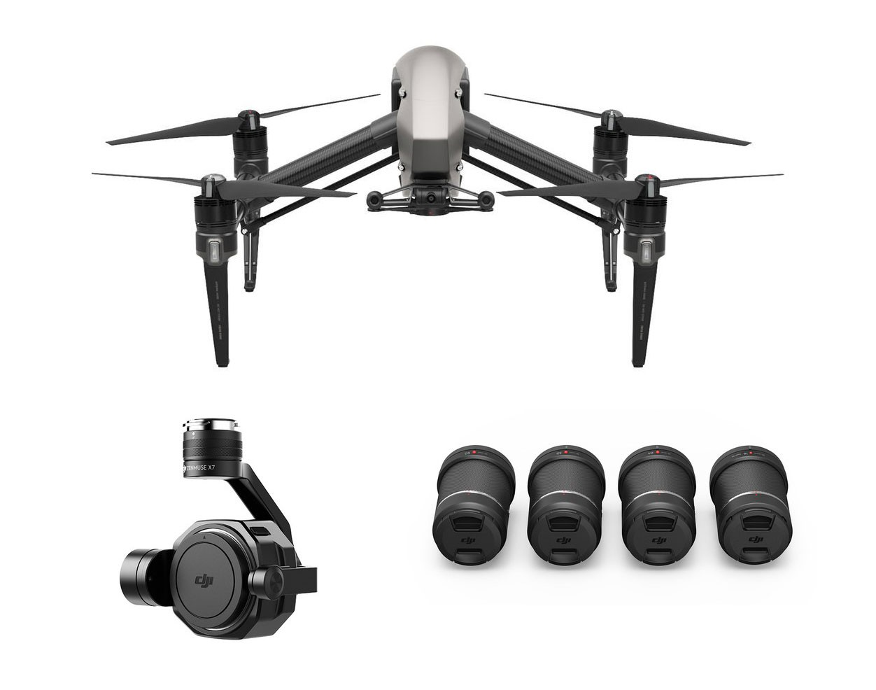 DJI Inspire 2 With Zenmuse X7 4 Lens Pack Ultra Bundle INSPIRE2X7LENS4PK