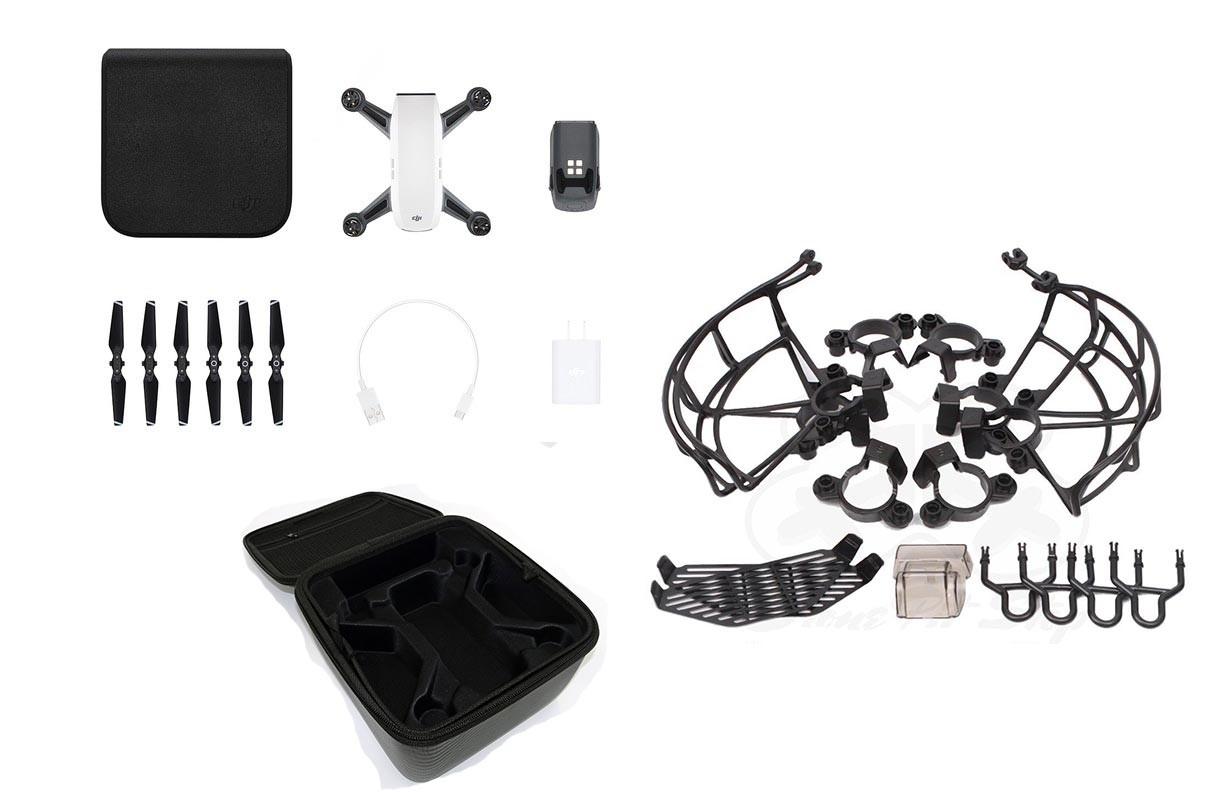 DJI Spark Alpine White Bundle - Includes Handbag & Protection Kit