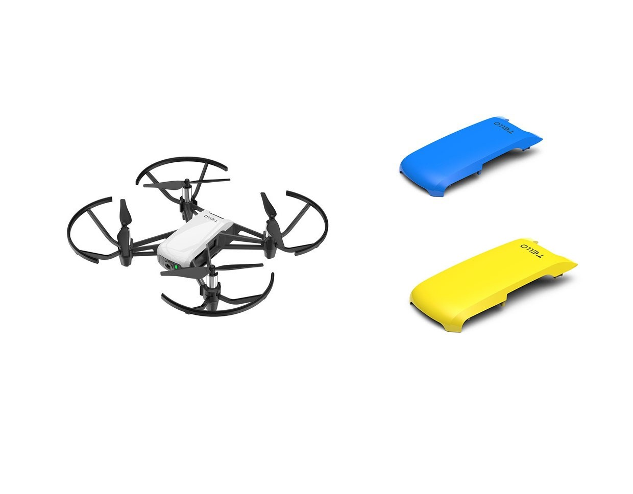 Powered By DJI Tello Minidrone Quadcopter with Yellow & Blue Covers