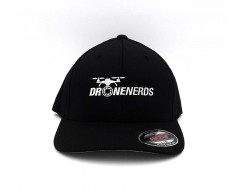 Drone Nerds FlexFit Fitted Hat - Black DNBLACKFITTED