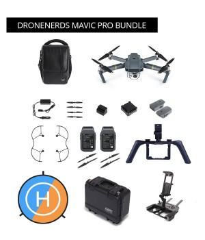 DJI Mavic Pro Bundle - Fly More Combo, Tablet Holder, GPC Case, Handheld Gimbal & More MAVPRODNBUNDLE
