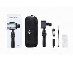 DJI Osmo Mobile Black - Handheld Gimbal for Smartphone (DJI Refurbished) CP.ZM.000449-R