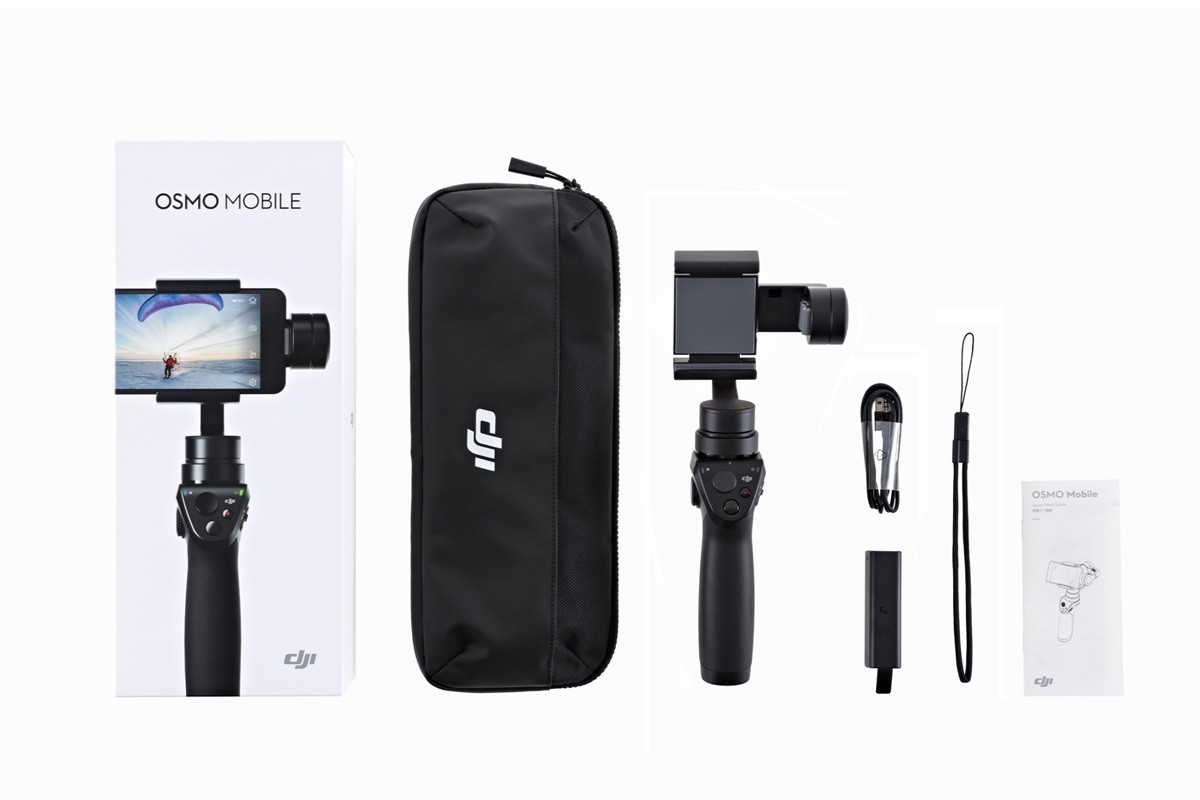 DJI Osmo Mobile Black - Handheld Gimbal for Smartphone (DJI Refurbished)